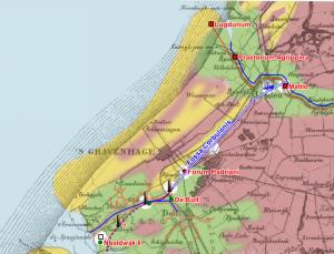 Het Kanaal van Corbulo liep vermoedelijk van Leiden naar Naaldwijk.