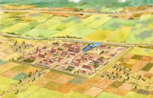 Forum Hadriani, aan het Kanaal van Corbulo, de tweede Romeinse stad van Nederland.
