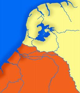 Als rivierdelta was Nederland rijk aan waterwegen (en nu nog steeds).