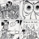 """""""Mijn eerste Romeinenstrip, die ik voor de lol tekende in 2010. De grap had achteraf beter gewerkt in een filmpje dan in een strip en in het tekenwerk zie ik ook de nodige verbeterpunten. Op het eerste plaatje een cameo van mijzelf, links vooraan."""""""