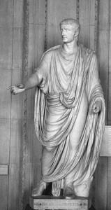 Standbeeld van Tiberius als redenaar op Capri.