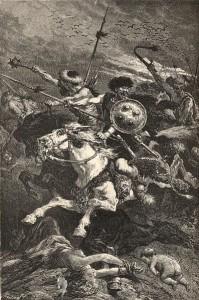 Op de Catalaunische Velden kwam het tot een bloedig treffen.