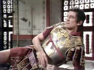 In het beroemde werk I, Claudius wordt Tiberius (hier gespeeld door de Britse acteur George Baker) neergezet als een norse figuur die ernaar snakt om geliefd te zijn. Hij benoemt Caligula tot opvolger in de wetenschap dat die een slechtere keizer zal zijn.
