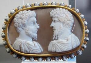 Camee van Lucius Verus en Marcus Aurelius.