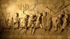 De triomftocht van Titus voerde kostbare schatten uit de Tempel van Jeruzalem mee, zoals hier afgebeeld op de Boog van Titus.
