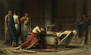 Manuel Domínguez Sánchez, De zelfmoord van Seneca (1871) Museo del Prado