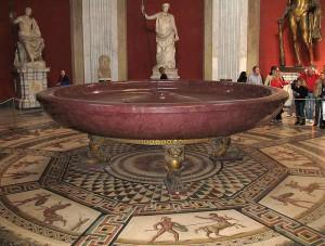 Porfieren bad uit de Thermen van Titus (Vaticaans Museum)