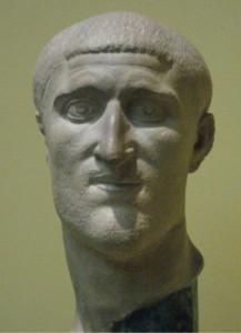 Keizer Constantius Chlorus, de vader van Constantijn de Grote. (Pushkin Museum, kopie van een origineel uit Berlijn)