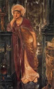 Heliogabalus, Hogepriester van de Zon, door Simeon Solomon (1866).