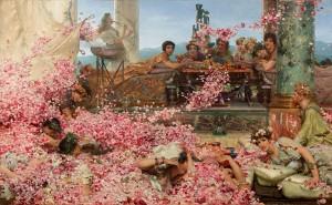 De Rozen van Heliogabalus, door Lawrence Ama-Tadema (1888). Elagabalus wordt gezien als een toonbeeld van decadentie.