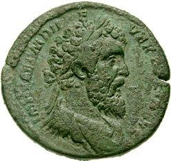Op de Vijf Goede Keizers volgde Commodus, en op Commodus volgde het Vijfkeizerjaar. Didius Julianus (hier op een sestertie) had in 172 de Chauken uit ons land geweerd en was daarna nog een tijdje gouverneur van Germania Inferior geweest. Hij bouwde extra forten langs de westkust van ons land.