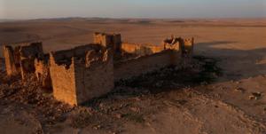Ruïne van een Romeins fort in Jordanië. Septimius Severus was cruciaal in de versterking van de Arabische limes.