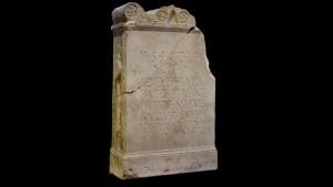 Altaarsteen voor Sol Invictus Heliogabalus, gevonden in Woerden. (Bron: Vici.org)