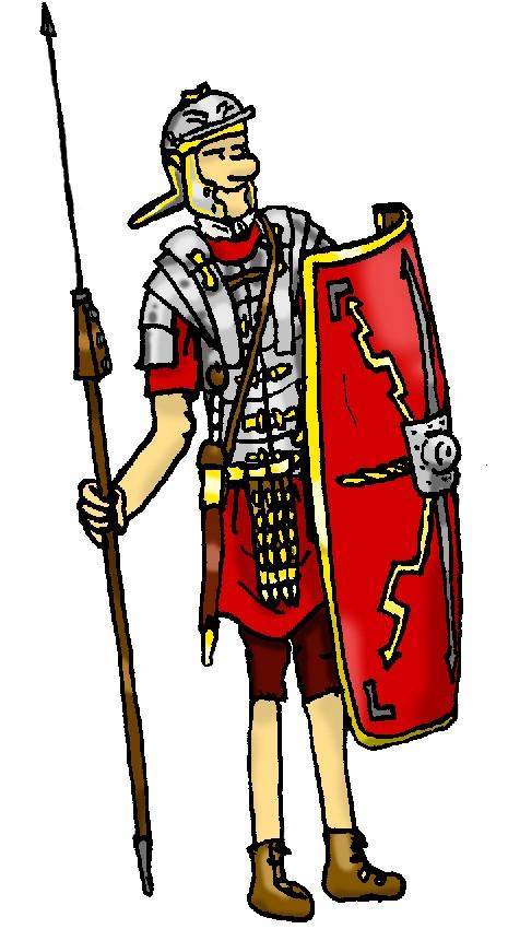 De soldaten for Romeins schild