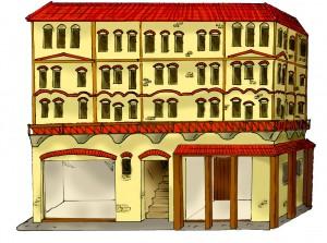 """Bij Romeinse steden denken we snel aan fraaie tempels en grote villa's. Maar veel Romeinen woonden eerder in dit soort blokken. En dat was niet altijd """"je dat""""..."""