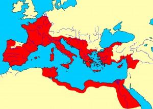 Zo groot is het Romeinse rijk bij het begin van de keizertijd. En het wordt nog veel groter!