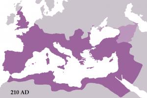 Het Romeinse Rijk onder Septimius Severus, groter dan onder Trajanus, al is dat vaak vergeten.