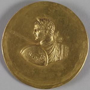 Een medaillon van de militaristische Caracalla. Zijn beleid was labiel en erg op korte termijn.