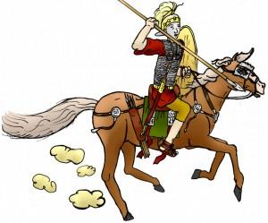 Bataafse ruiters onder leiding van Chariovalda streden in 16 na Chr. mee in het leger van Germanicus.