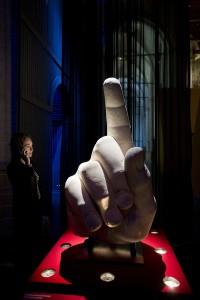 De hand van Constantijn. Foto: Evert Elzinga