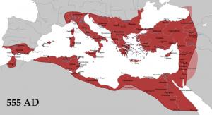 De Romeinse glorie herleeft! Justinianus de Grote herovert grote delen van het Middellandse Zeegebied in de 6e eeuw. Maar erg lang weet Constantinopel die macht niet te behouden.