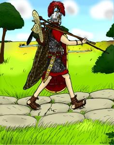 Als echte infanterist gaat Octavius het liefst te voet. © Gilivs