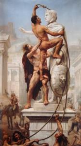 De plundering van Rome door de barbaren in 410, door Joseph-Noël Sylvestre (1890)
