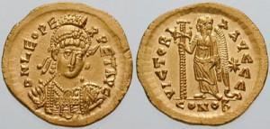 Keizer Leo I. Op het einde van zijn leven was hij impopulair bij het volk door zijn verbod op niet-christelijke feesten.