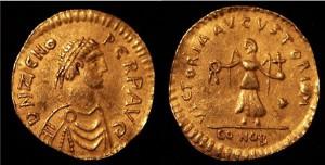 Tarasicodissa als keizer Zeno. Zijn regering was niet geheel onbetwist, maar stabiliseerde uiteindelijk wel.