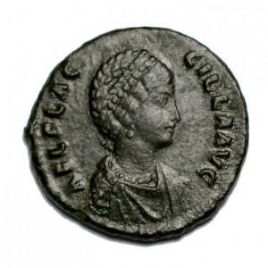 Aelia Flavia Flaccilla, de eerste vrouw van Theodosius. Ze werd maar 30 jaar oud. Ze stierf in 386, net als hun dochter Pulcheria.
