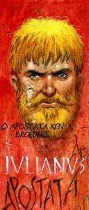 De strip Apostata, van de Belgische tekenaar Ken Broeders, is een zeer uitgebreide hervertelling van het leven van Julianus.