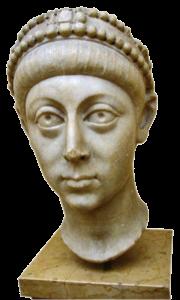 Buste van keizer Arcadius. Net als zijn broer was hij niet veel meer dan een marionet.