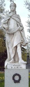 Standbeeld van de Visigotische koning Athaulf in Madrid, door Felipe de Castro.