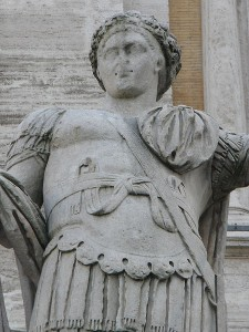 Standbeeld van Constantijn II op de Campidoglio in Rome.