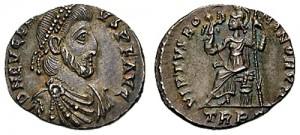 Eugenius, de laatste tegenkeizer van Theodosius, was in feite een marionet van de machtige Arbogast.