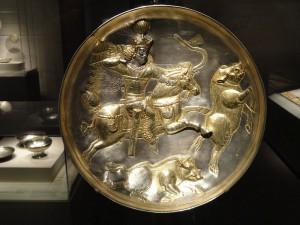 Afbeelding van de Perzische koning Shapur II op jacht. (Arhur M. Sackler Gallery)
