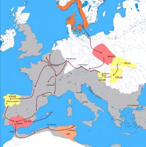 In de loop der eeuwen waren de Vandalen, zoals wel meer Germanen, veel door het noorden van Europa getrokken. In de 5e eeuw trokken ze langs de Rijn en vielen Gallië binnen om daarna naar Spanje uit te wijken. Hun oversteek naar het tot dan toe kalmere Afrika was een ramp voor Rome.