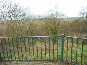 Foto vanaf het vermoedelijke noordwestpunt van het houten kamp op de Hunnerberg.