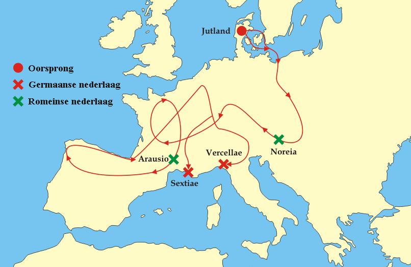 gebied romeinse rijk germanen