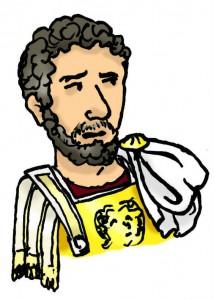 Het concept van het verhaal is losjes gebaseerd op het bezoek van keizer Hadrianus aan de Germaanse limes anno 121-122.