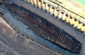 De Woerden 7, zoals opgegraven is in 2003. (Afbeelding: Hazenberg Archeologie Leiden)