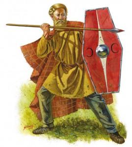 De Germaanse krijgers tijdens de Varusslag moeten lichtbewapend zijn geweest. Ze waren razendsnel en levensgevaarlijk. (Illustratie door Johnny Shumate)