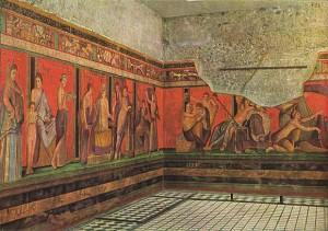 Muurschilderingen uit de Villa dei Misteri, ca. 50 v. Chr.