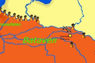De Bataven (of hun elite) kwamen uit de omgeving van de Wezer en trokken uiteindelijk het Nederlandse rivierengebied binnen.