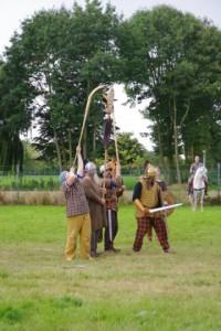 Middels hun eigen veldtekens trachtten de Germanen een anti-Romeins sentiment uit te drukken. (Foto: Gemina.nl)
