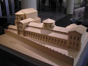 Schaalmodel van het praetorium in Keulen, waar de gouverneur-bevelhebber van Germania Inferior zetelde.