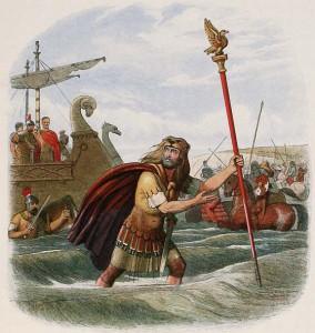 De aquilifer van het Tiende Legioen zou bij Caesars inval in Brittannia als eerste van boord gesprongen zijn, daarmee de aarzelende soldaten overhalend dit ook te doen zodat de adelaar veilig bleef.