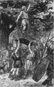 De Cananefaten kwamen in 69 AD het eerst in opstand, onder leiding van een zekere Brinno.