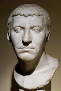 """De zogenaamde """"pseudo-Corbulo"""" uit de Centrale Montemartini. Het is niet bekend wie deze buste voorstelt, maar jarenlang is hij ten onrechte aan Corbulo toegeschreven."""