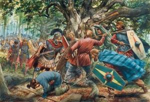 De overlevende soldaten van de hinderlaag bij de wal werden in het woud grotendeels gedood.